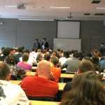 Plný sál svědčil o velkém zájmu studentů o tato témata